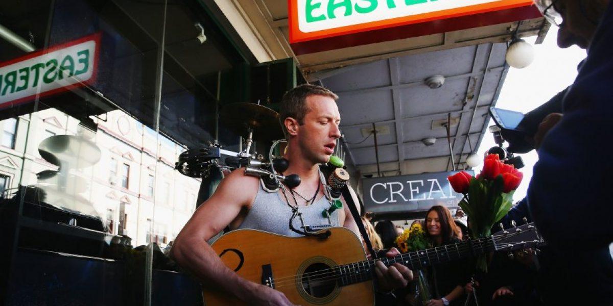 Coldplay se pasea por Sidney grabando su nuevo video