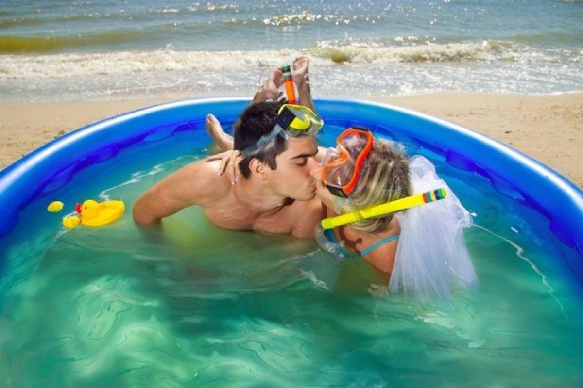 Sí, nada como una piscina inflable frente al mar Foto:Thinkstock. Imagen Por: