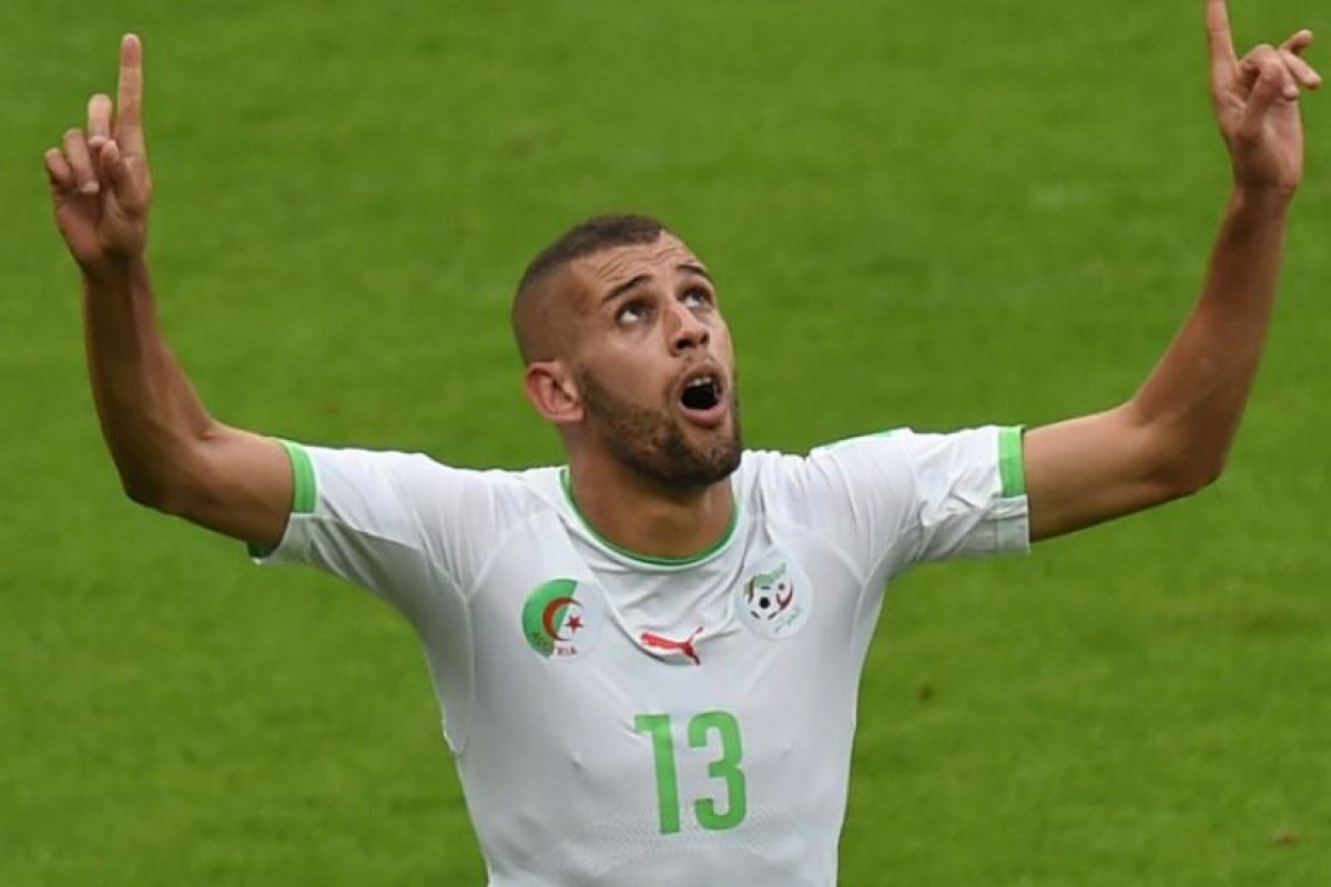 Islam Slimani, Argelia Foto:AFP. Imagen Por: