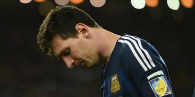 Una vez más: Lionel Messi vomitó en la final de Brasil 2014