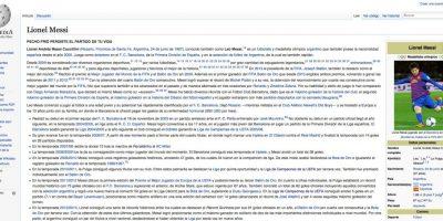 No hay tregua: perfil de Messi en Wikipedia sufrió particular hackeo