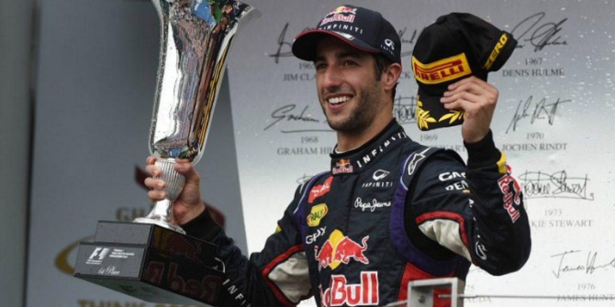 Daniel Ricciardo sorprendió y se quedó con el GP de Hungría