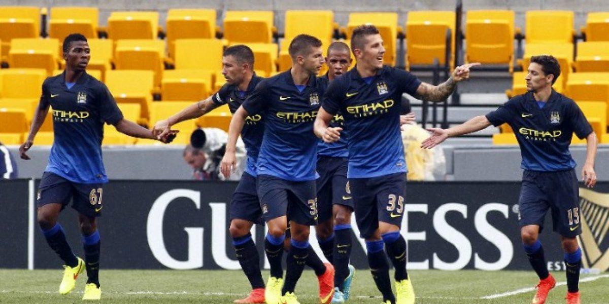 Manchester City barrió con AC Milan en amistoso de pretemporada