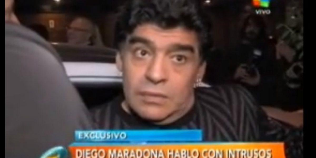 Video: ¡Otra del Diego! El polémico estado de Maradona a la salida de un restaurant