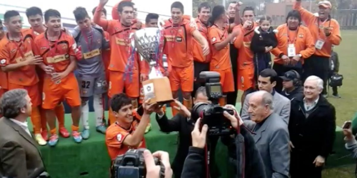 Video: la feliz celebración de Cobreloa tras superar a la U en la final sub 19