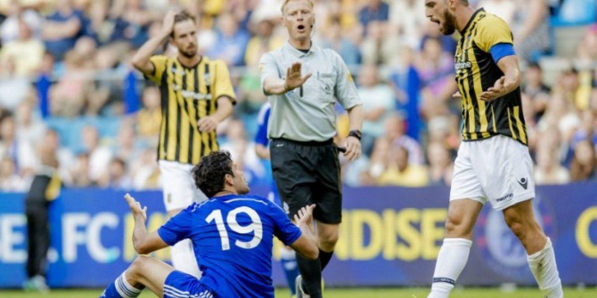 Se descontroló: Diego Costa ya muestra su carácter con la camiseta del Chelsea