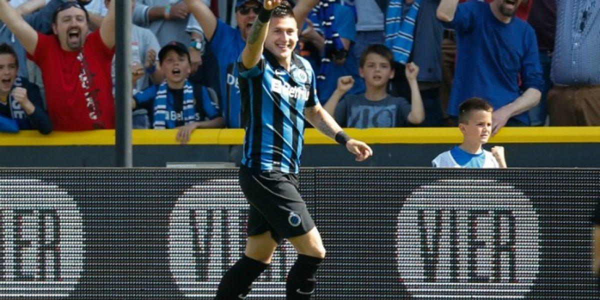 Sigue en racha: Nicolás Castillo anotó en triunfo del Brujas por Europa League