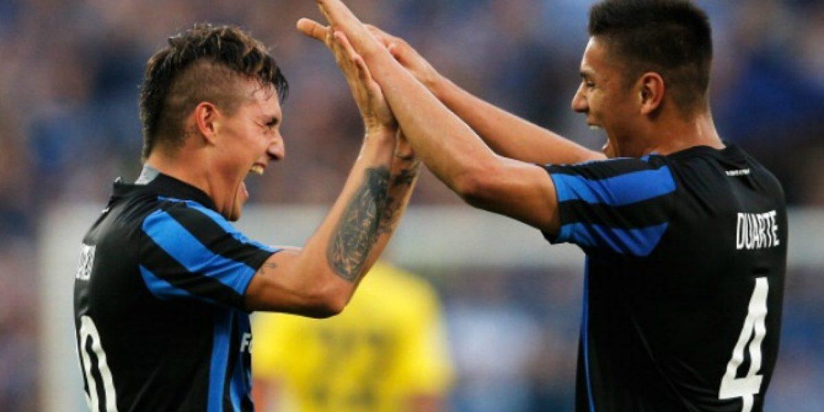Video: Así fue el gol de Nicolás Castillo para Brujas en la Europa League