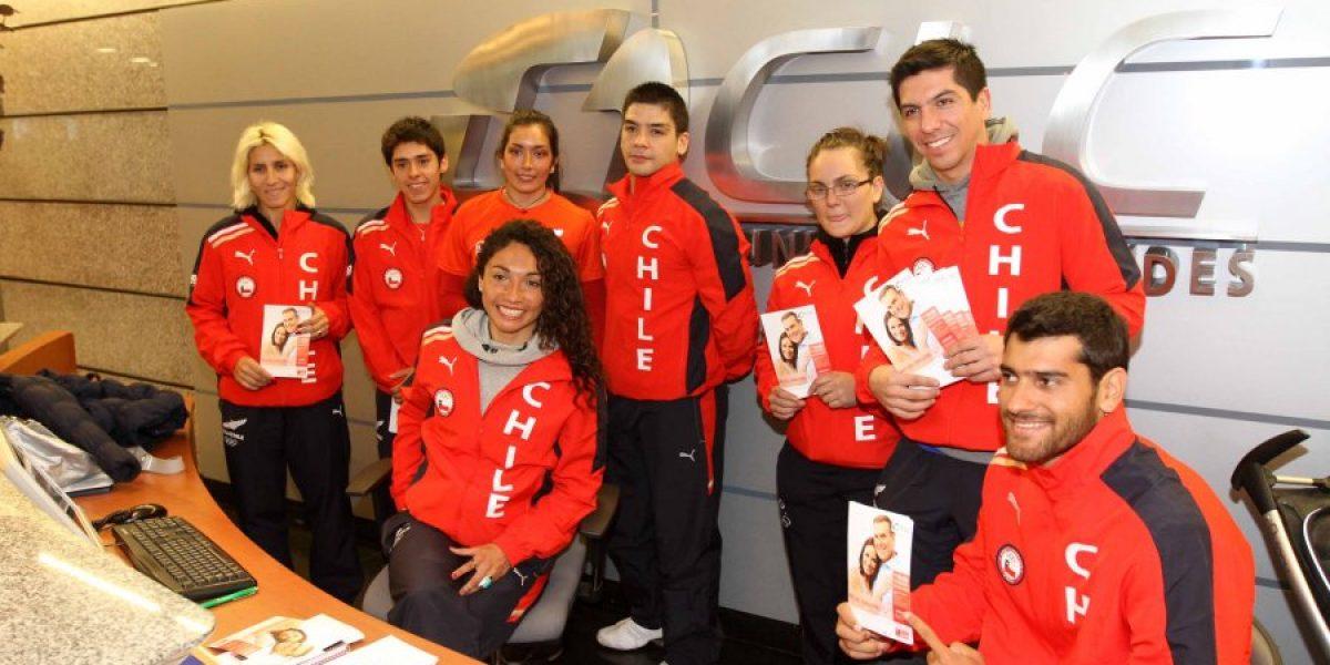 Destacados deportistas de Team Chile participaron en la campaña