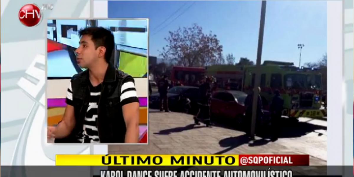 Karol Dance sufre accidente automovilístico en Las Condes