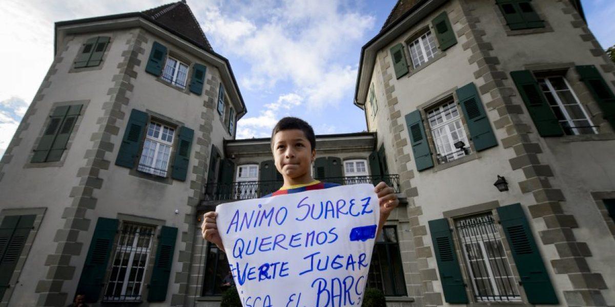 Galería: Luis Suárez declaró ante el Tribunal de Arbitraje Deportivo para bajar su sanción