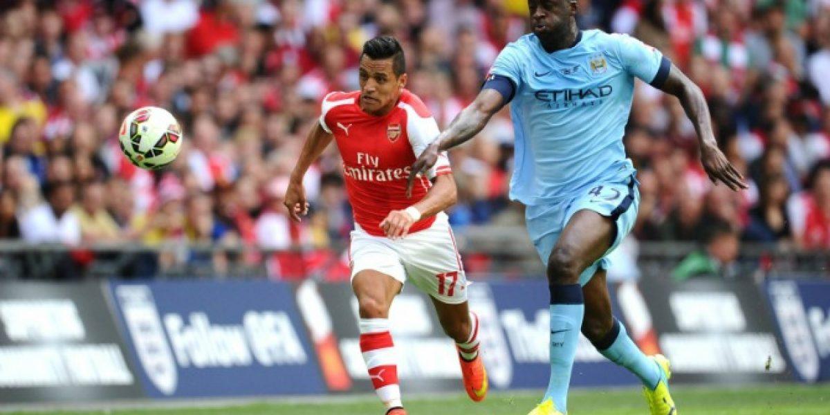 Alexis logra su primer título con Arsenal derrotando al City en la Community Shield