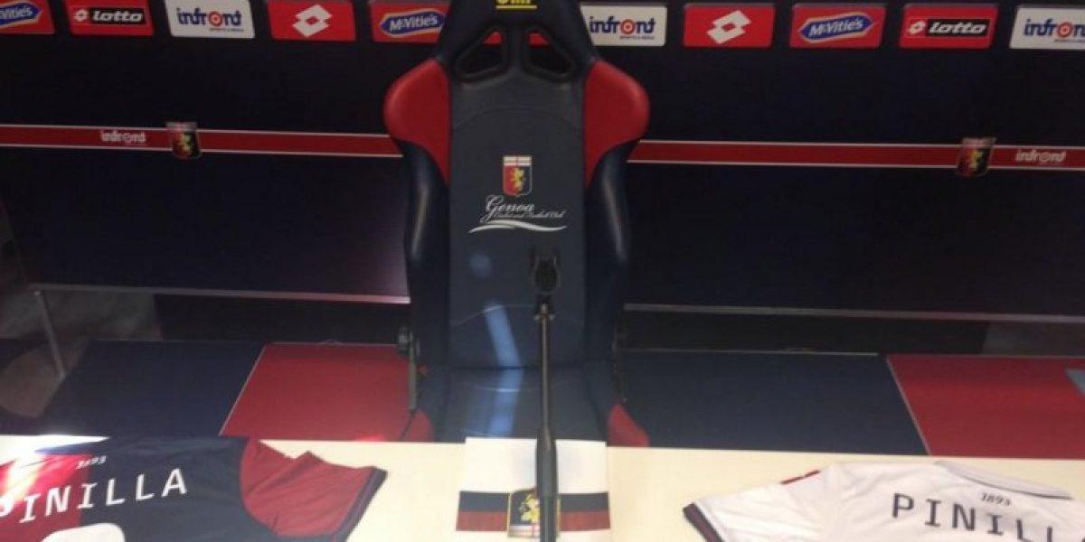 Galería: Pinilla revolucionó Genoa en su presentación como nuevo refuerzo del club