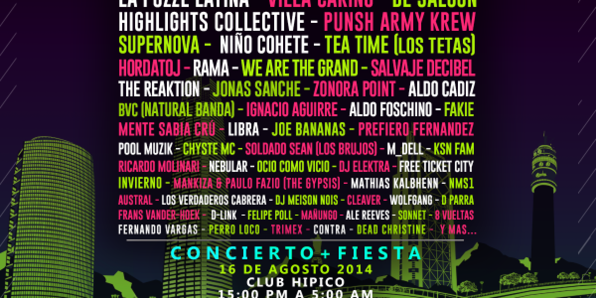 Fuga Festival tendrá más de 60 bandas y fiesta con 14 horas de duración