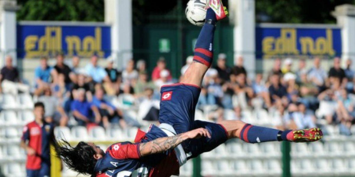 ¿No lo has visto? Aquí está el primer gol de Mauricio Pinilla con el Genoa