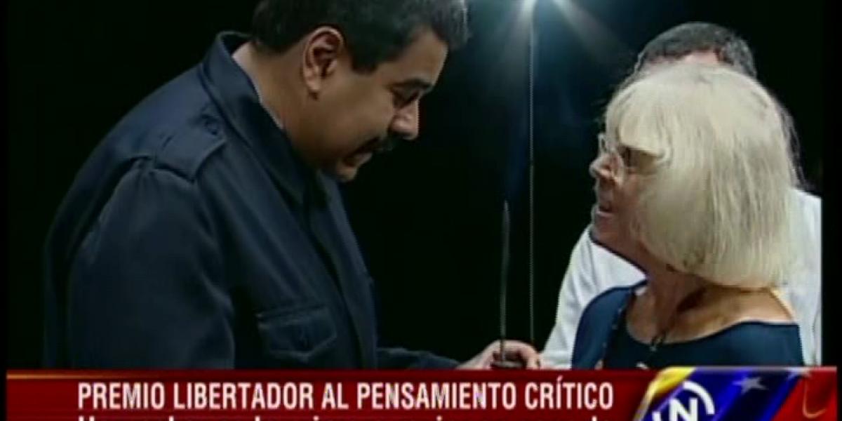 Nicolás Maduro otorga premio Libertador al Pensamiento Crítico a chilena Marta Harnecker