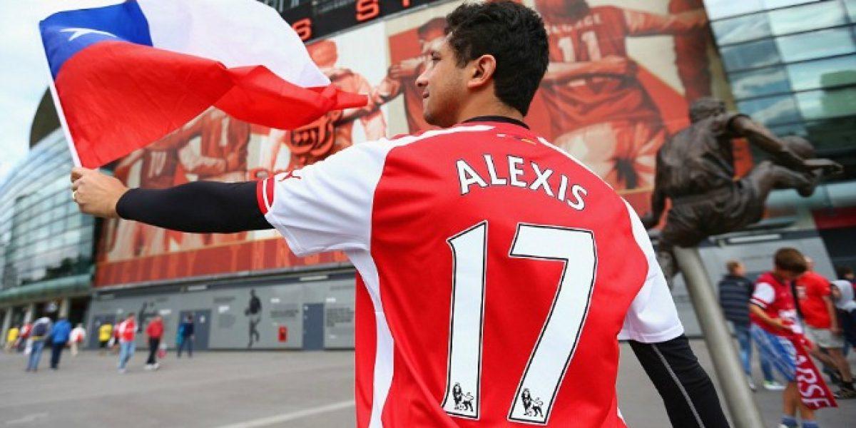 Así vivieron los hinchas de Alexis Sánchez su debut con Arsenal en la Premier League