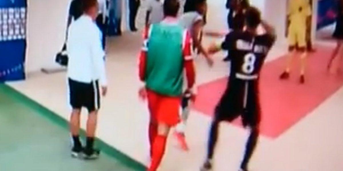 Impresionante: Jugador del Bastia francés le quebró la nariz a Thiago Motta del PSG