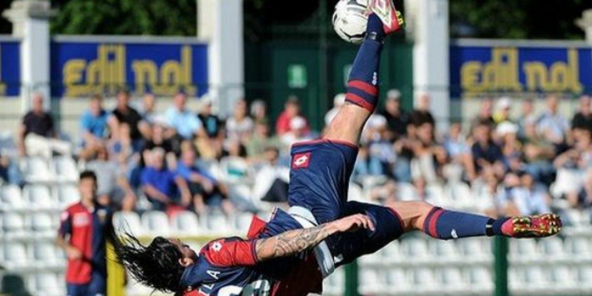 Mauricio Pinilla fue titular en derrota del Genoa ante Espanyol en duelo amistoso