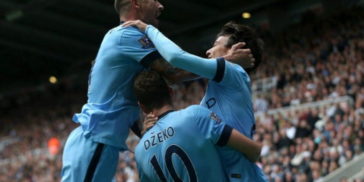 Manchester City empezó pegando en la Premier League con Silva y Agüero