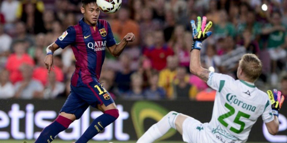 Barcelona derrota al León de México con goleada, Bravo titular y debut de Suárez