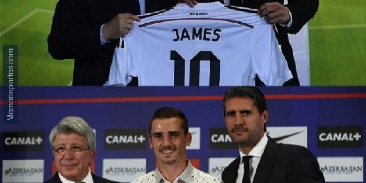 Las burlas para James Rodríguez y Griezmann en la Supercopa