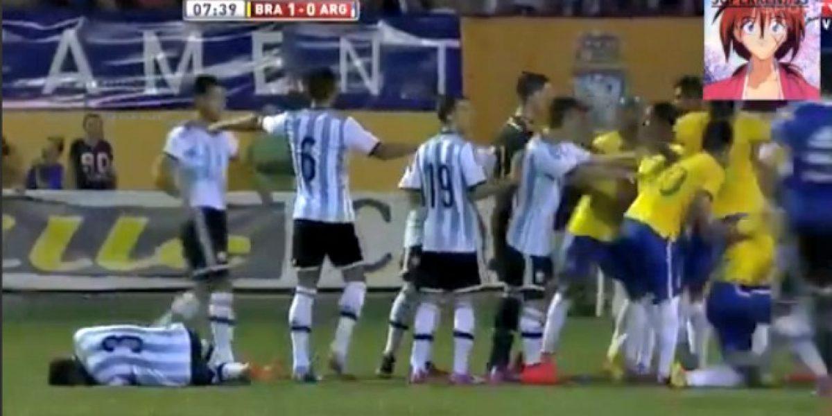 Video: La descomunal pelea entre la Sub 20 de Brasil y Argentina