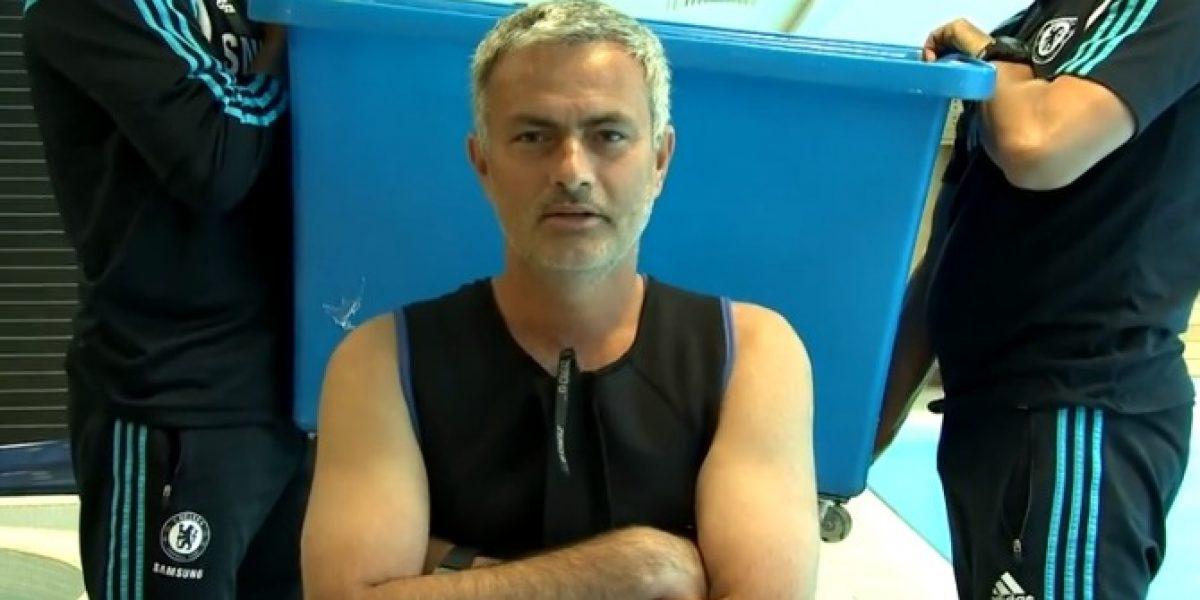 Video: Mourinho también se divierte con el Ice bucket challenge