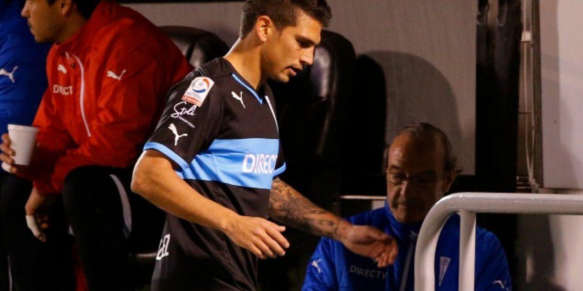 Se enojó: la furia de Mark González en la caída de la UC en la Sudamericana