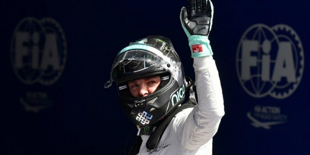 Nico Rosberg se alzó con la pole en Spa-Francorchamps