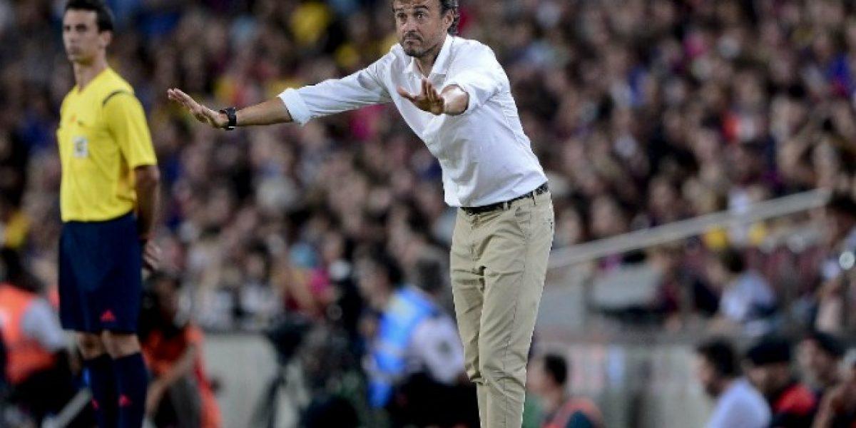 Luis Enrique le traspasó toda la responsabilidad al Atlético Madrid