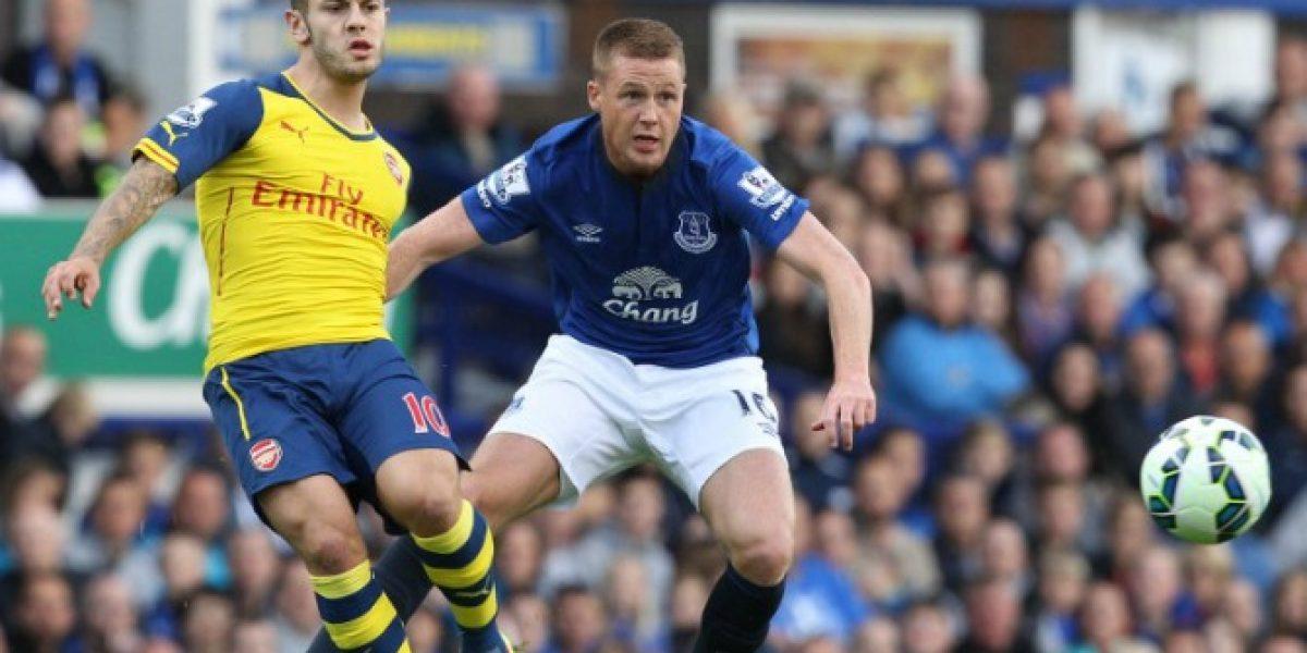 Arsenal remontó sin Alexis y consiguió un empate Everton
