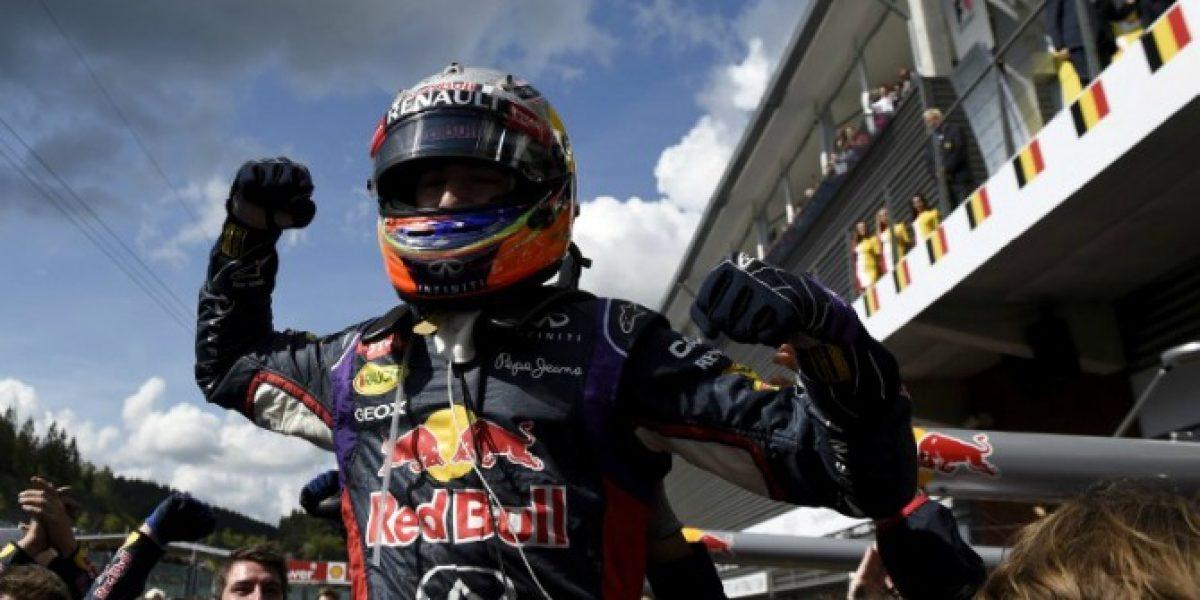 Daniel Ricciardo suma bonos y ahora se quedó con el GP de Bélgica