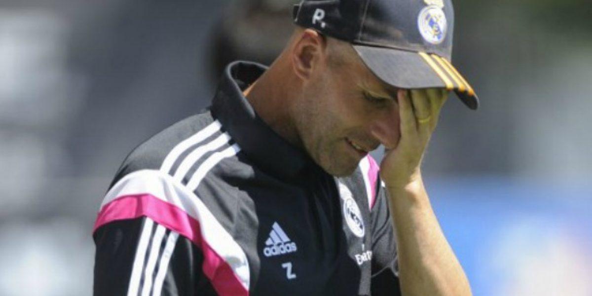 Zinedine Zidane tuvo un mal debut como DT perdiendo un clásico