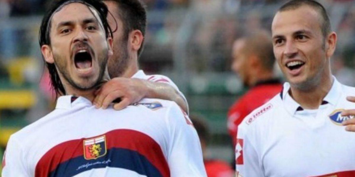 Pinilla le dio la clasificación a Genoa a la siguiente ronda de la Copa Italia