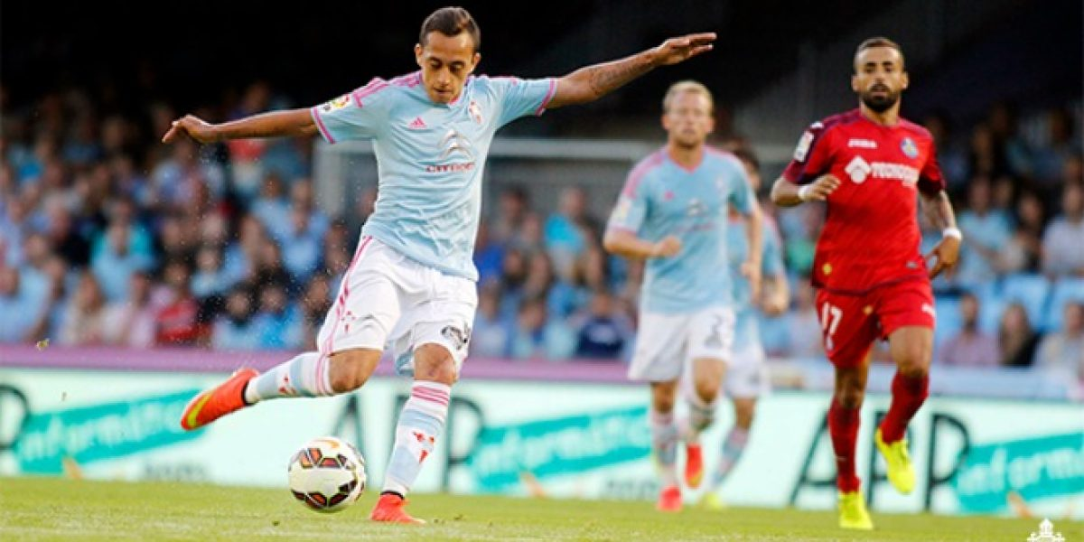 Fabián Orellana marcó un golazo en la victoria del Celta