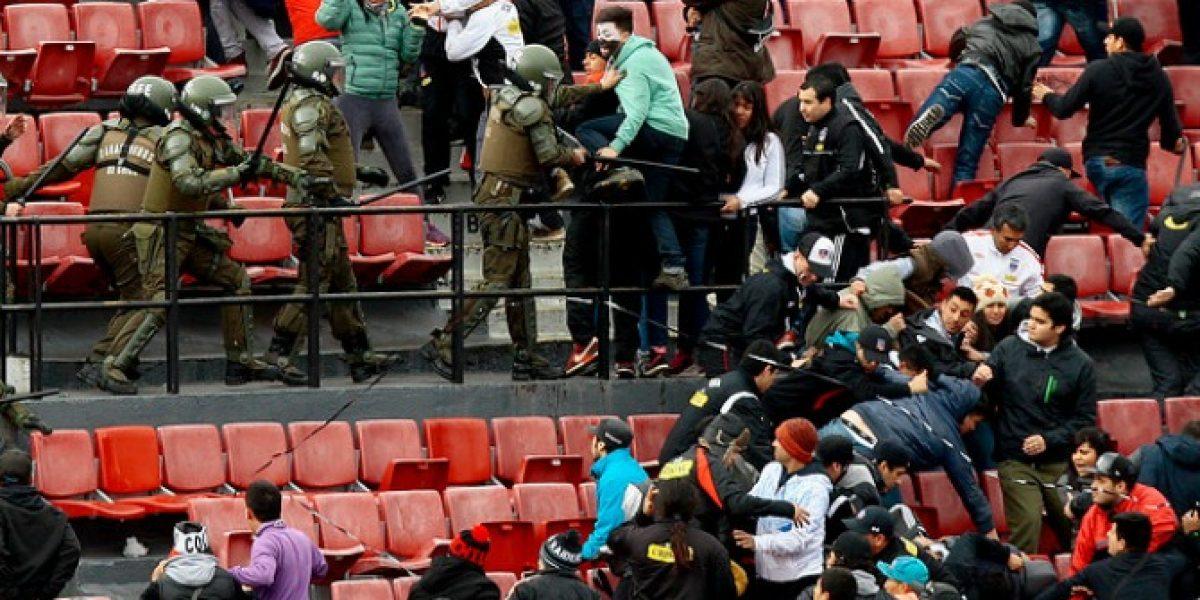 Colo Colo condenó los hechos de violencia de la Garra Blanca en el Nacional