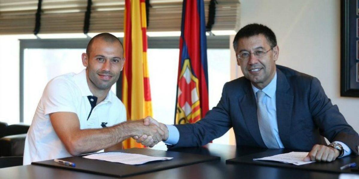 El argentino Javier Mascherano renovó su contrato con Barcelona hasta 2018