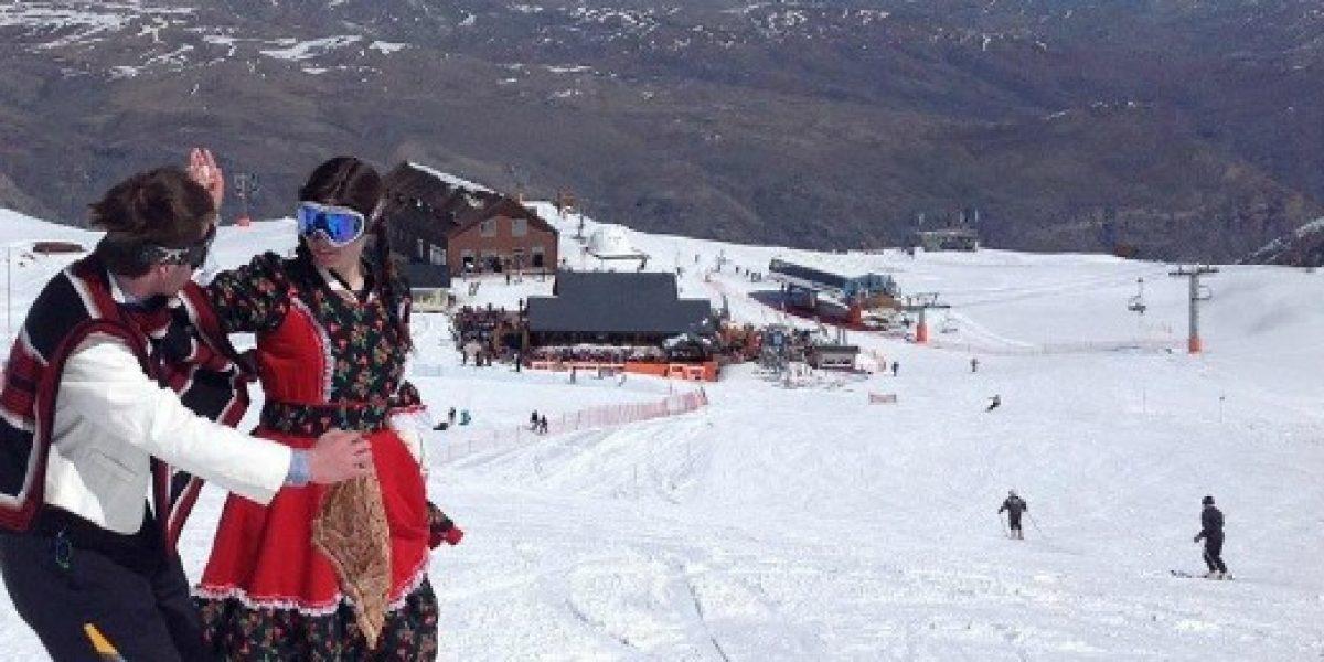 Nieve caída el fin de semana permitirá disfrutar del deporte blanco en las Fiestas Patrias