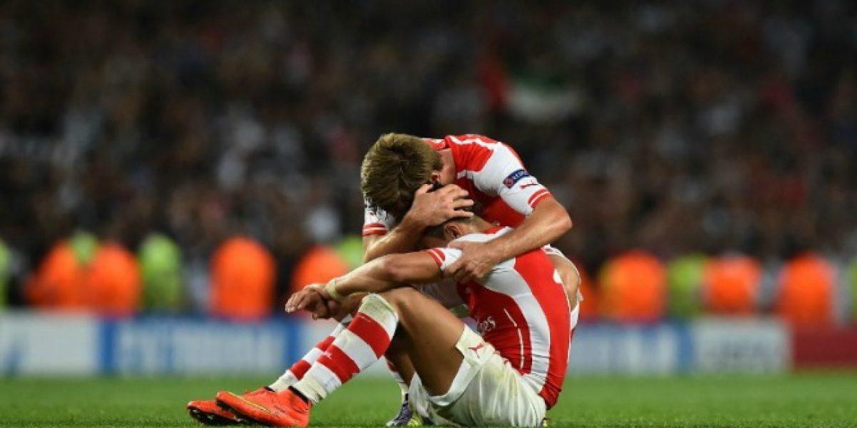 Alexis Sánchez se sacó la mufa, anotó y le dio la clasificación a Arsenal en la Champions