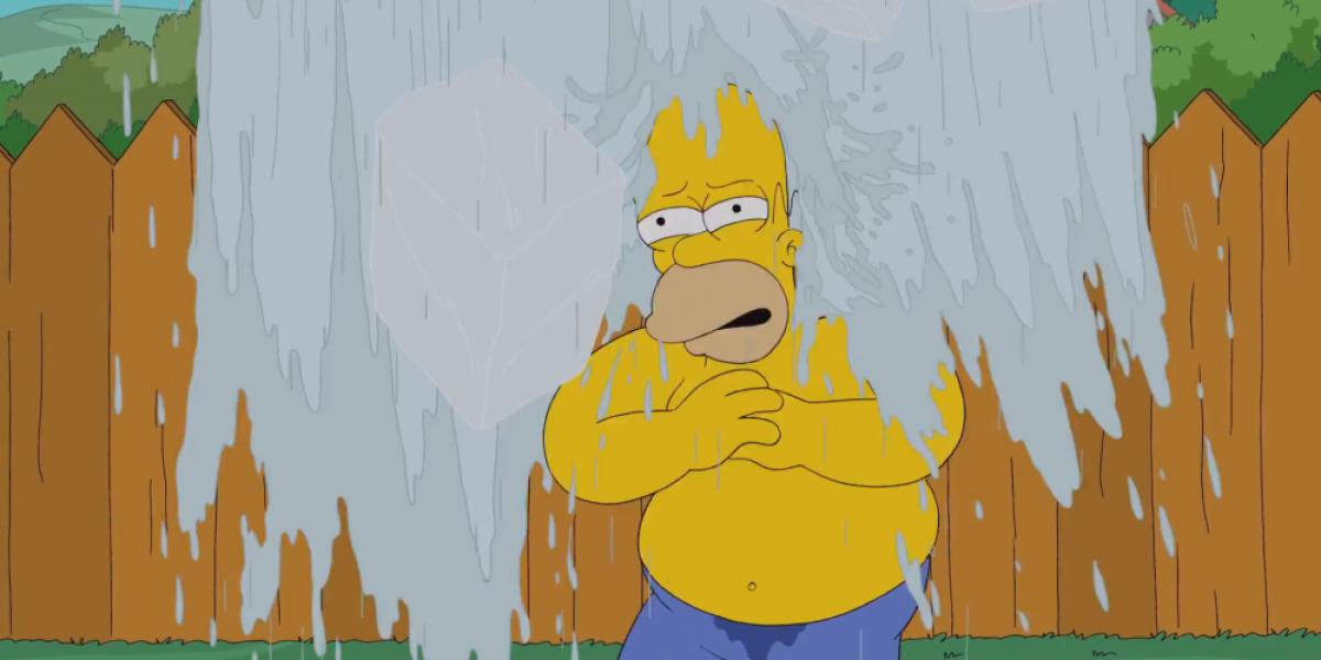 Bart Simpson se desquitó de Homero con el desafío de la cubeta
