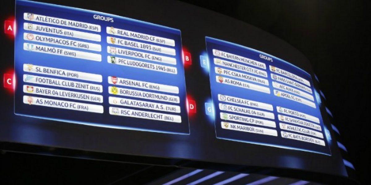 Este es el fixture de la fase grupal de la Champions League