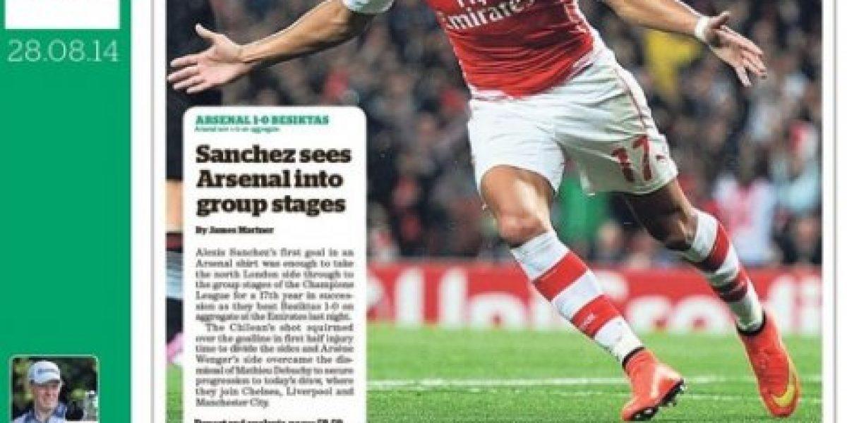 Alexis estrella: el chileno se tomó las portadas de la prensa inglesa