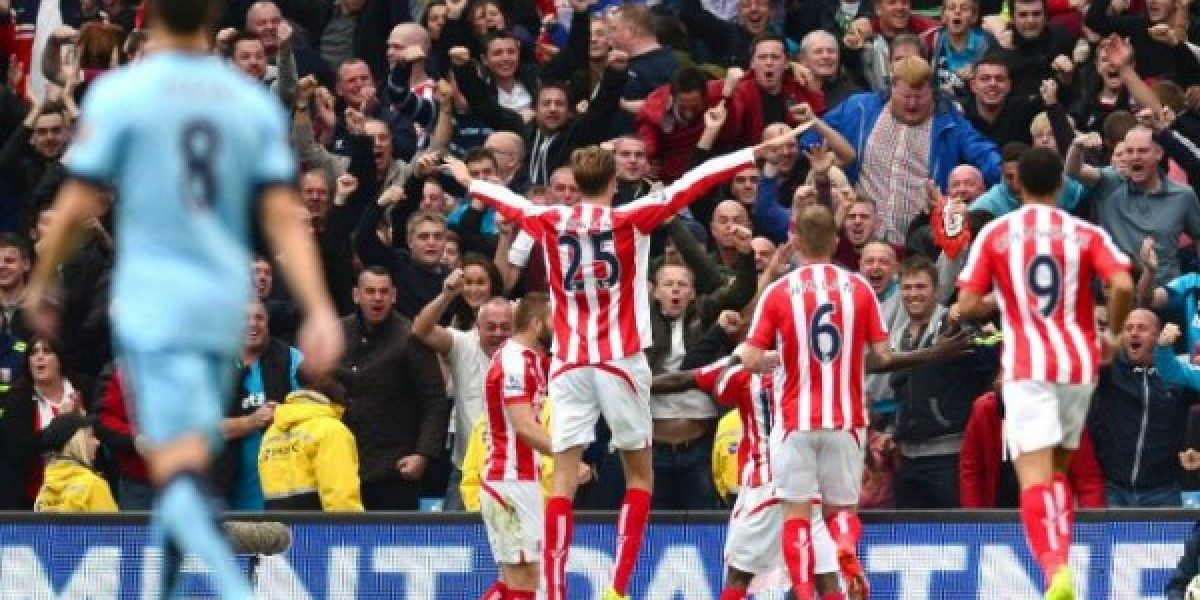 ¡Sorpresa! Stoke City derrotó por 0-1 a Manchester City en el Etihad Stadium