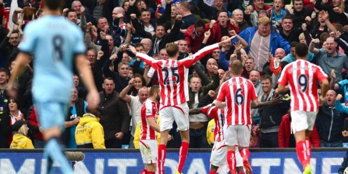¡Sorpresa! Stoke City derrotó al Manchester City de Pellegrini en el Etihad Stadium