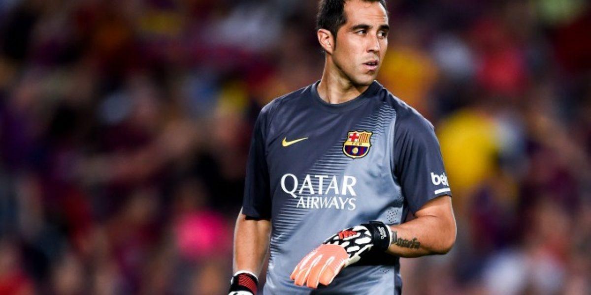 Claudio Bravo fue titular en ajustada victoria de Barcelona ante Villarreal