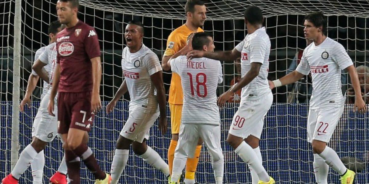 El primer mordisco: Gary Medel debutó en opaco empate del Inter de Milán