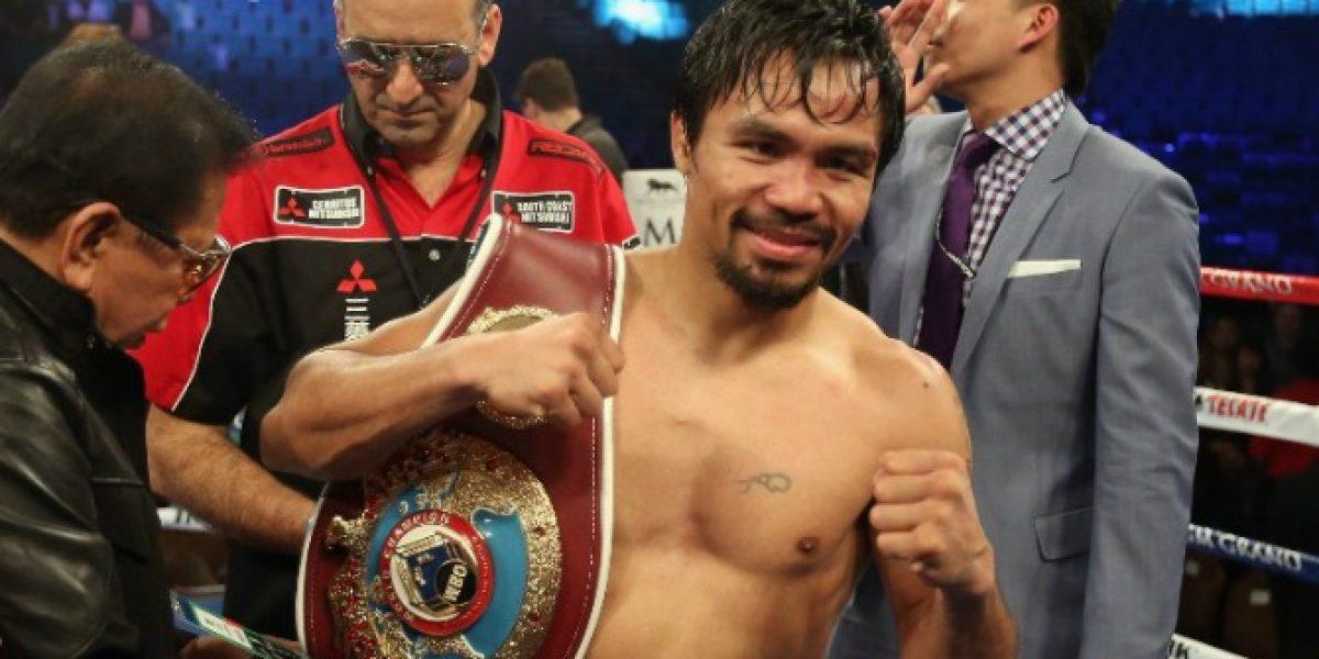 ¡Se armó! Manny Pacquiao desafió a combate a Floyd Mayweather