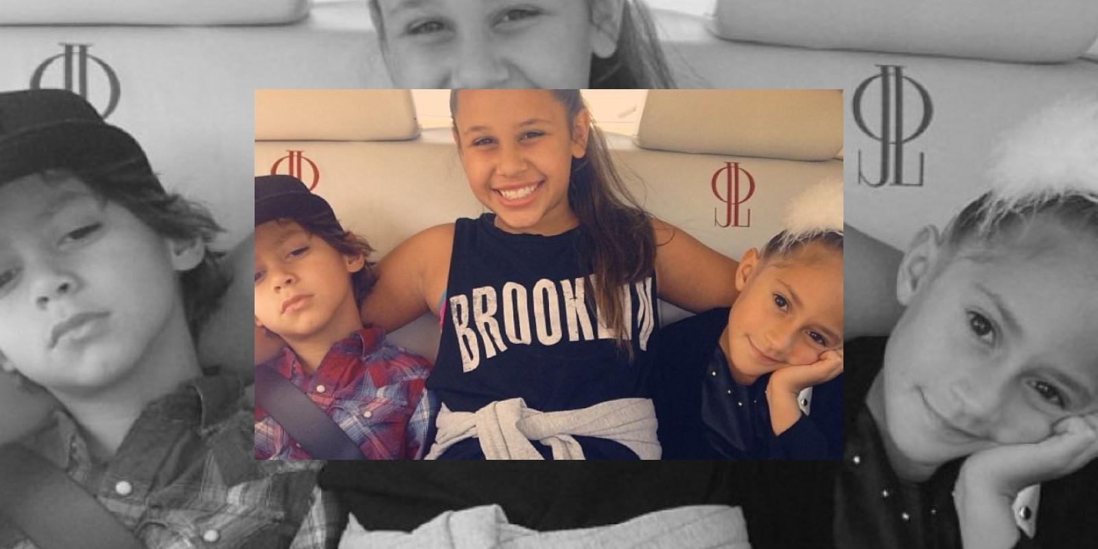 Los hijos de JLo con la hija de Leah Remini Foto:JLo vía Instagram. Imagen Por: