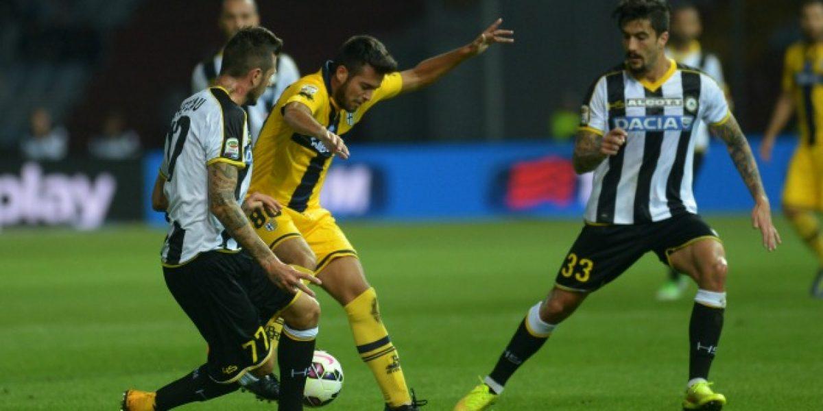 Jorquera fue titular en dolorosa derrota del Parma ante Udinese